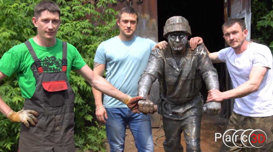 3D-сканер Calibry помог создать реалистичные 3D-печатные скульптуры рудокопов в Выксе