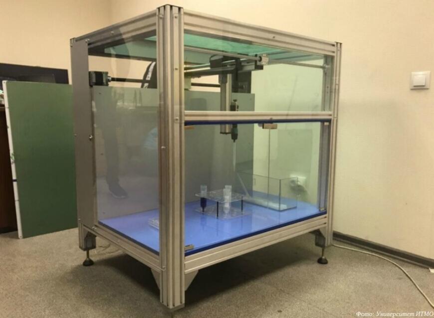 роботы-химики работаю с химическими реактивами
