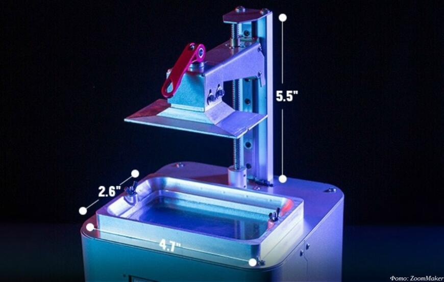 ZoomMaker предлагает бюджетный MSLA 3D-принтер