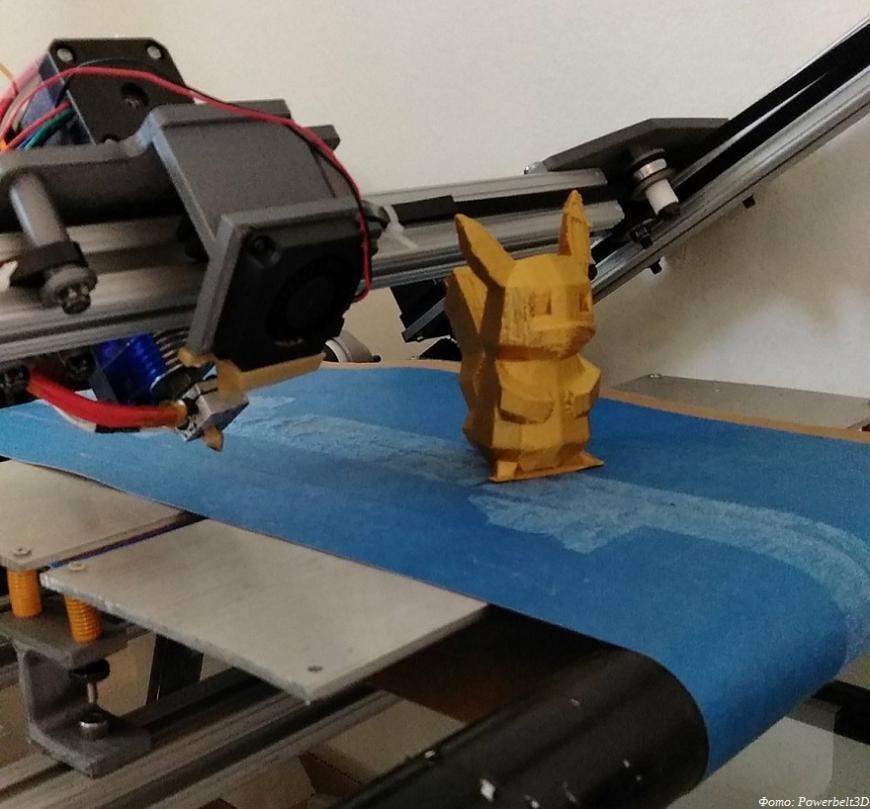 Powerbelt3D предлагает недорогие конвейерные 3D-принтеры Powerbelt Zero