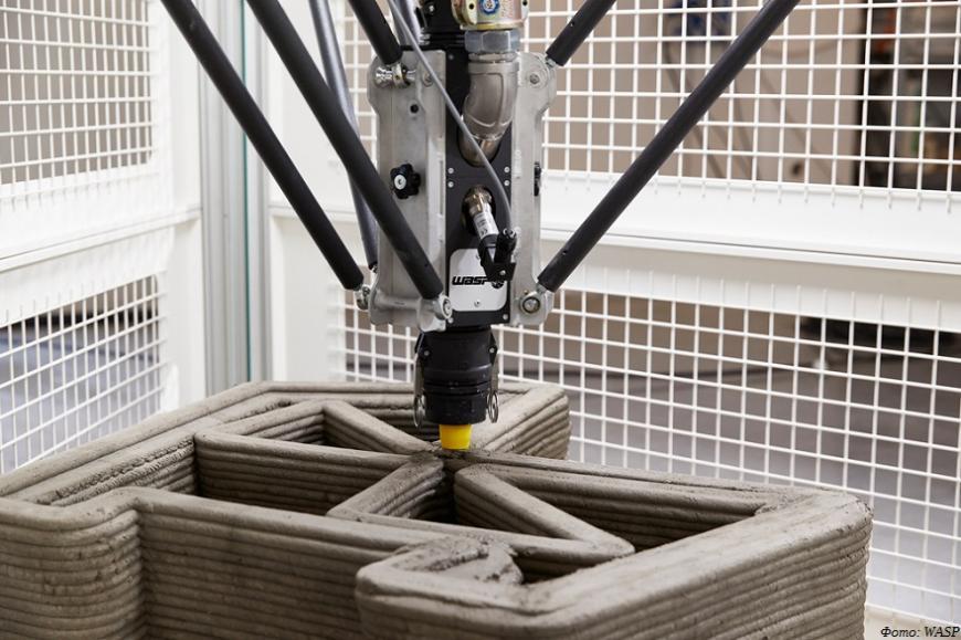 WASP предлагает 3D-принтер для печати малых архитектурных форм