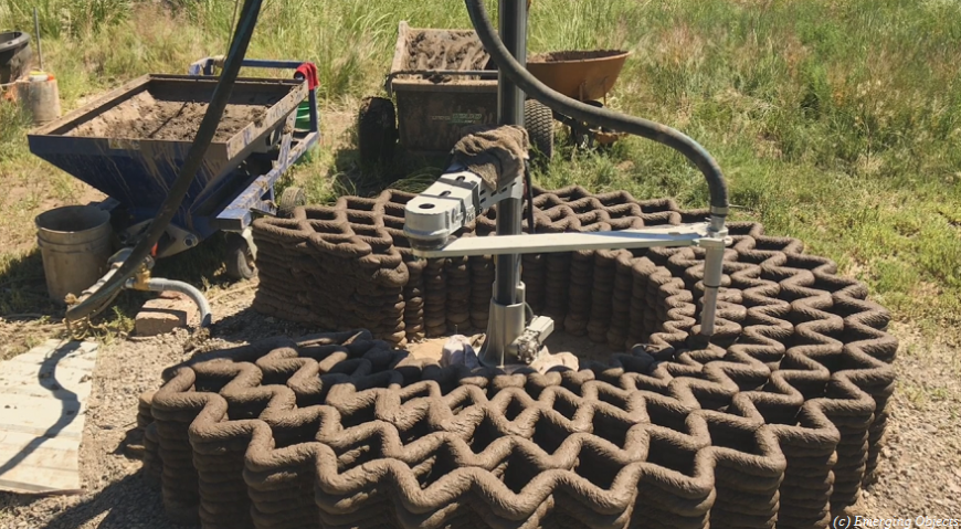 Mud Frontiers: грязные технологии строительной 3D-печати