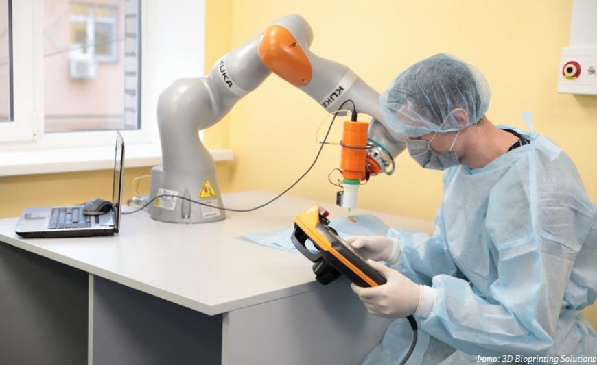 Российские ученые провели уникальный эксперимент по биопечати кожных имплантатов