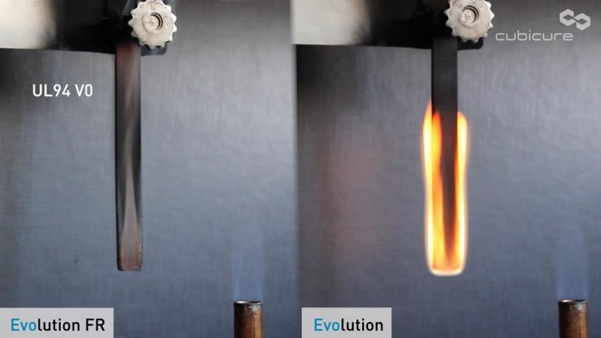 Компания Cubicure анонсировала негорючий фотополимер Evolution FR