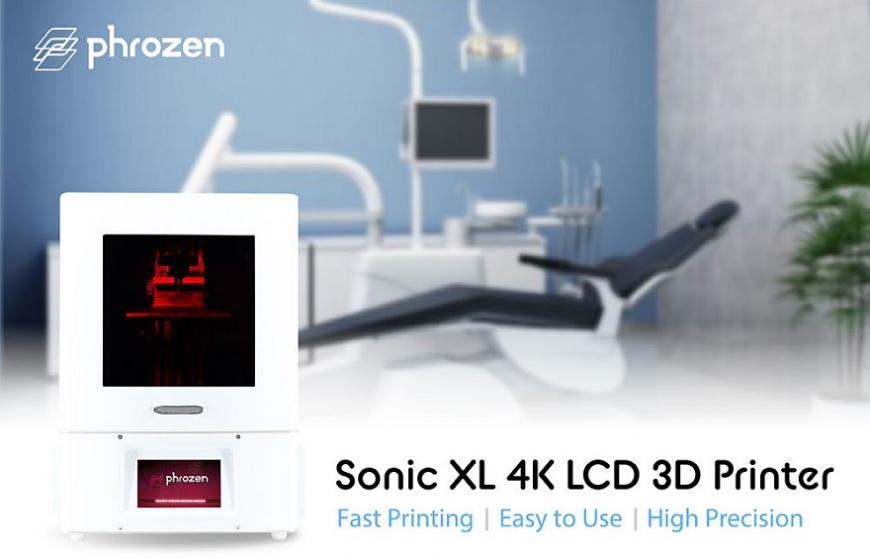 Phrozen предлагает крупноформатный вариант высокопроизводительного фотополимерного 3D-принтера Sonic