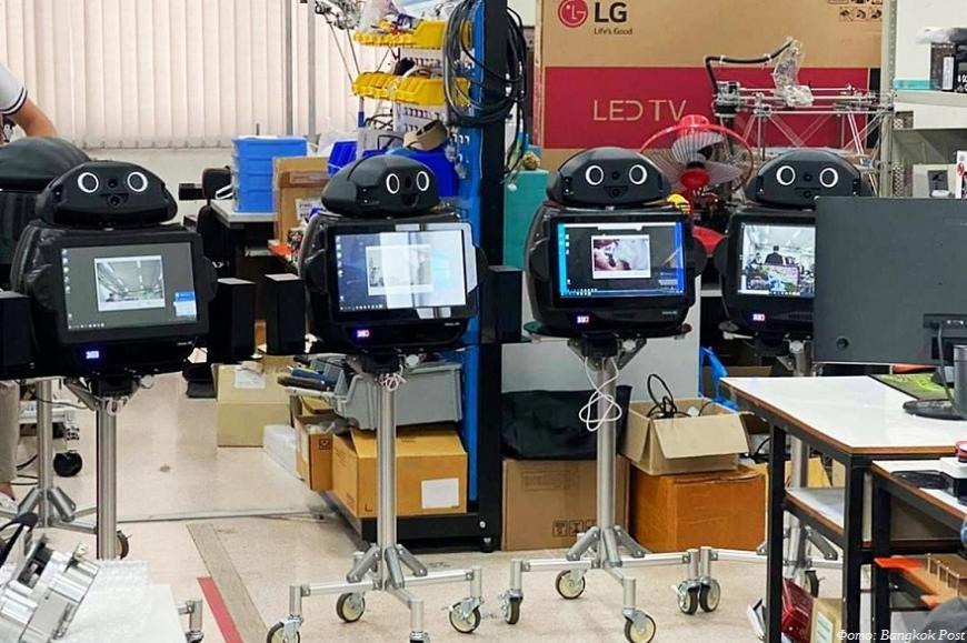 В Таиланде для ухода за инфицированными коронавирусом задействовали 3D-печатных роботов