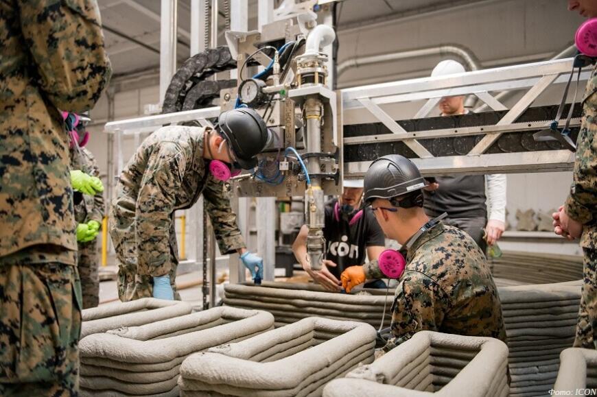 Американские морпехи экспериментируют с 3D-печатью укрытий