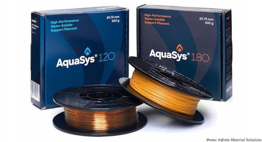 Infinite Material Solutions выпустила тугоплавкий водорастворимый опорный филамент AquaSys 180