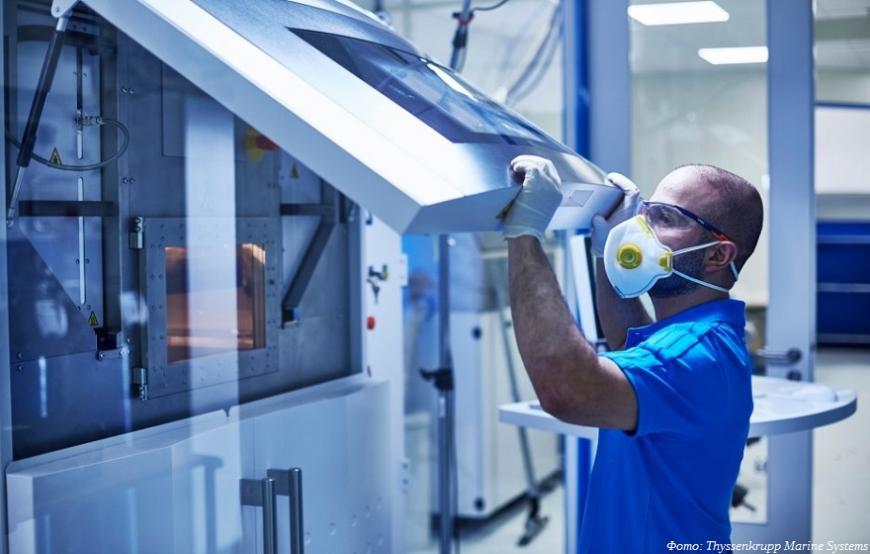 Thyssenkrupp наладит 3D-печать деталей подводных лодок