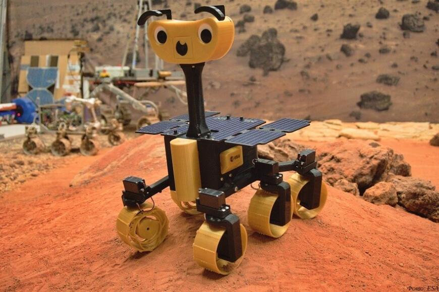 ExoMy: 3D-печатная радиоуправляемая модель марсохода ExoMars