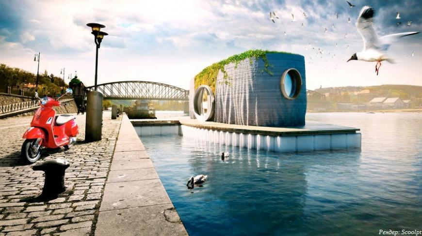 Чешский художник строит 3D-печатный плавучий дом