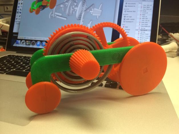 3d модель заводная машинка