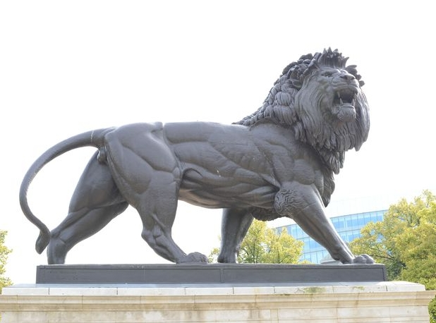 Maiwand Lion in Forbury Garden, Reading, UK