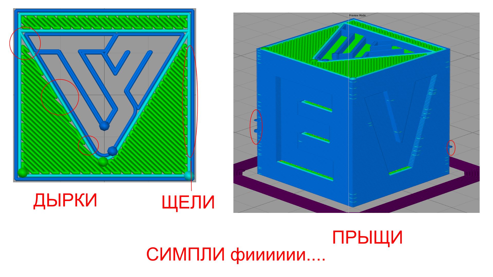 Cura VS Simplify3D prt 3 - раболаторная лабота !