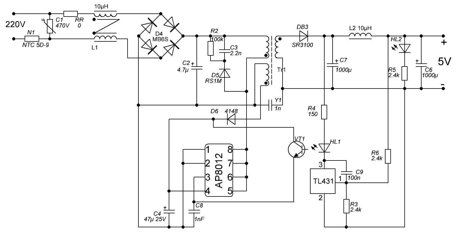 Fan6862 схема включения
