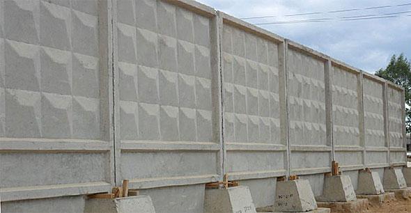 фото бетонный забор