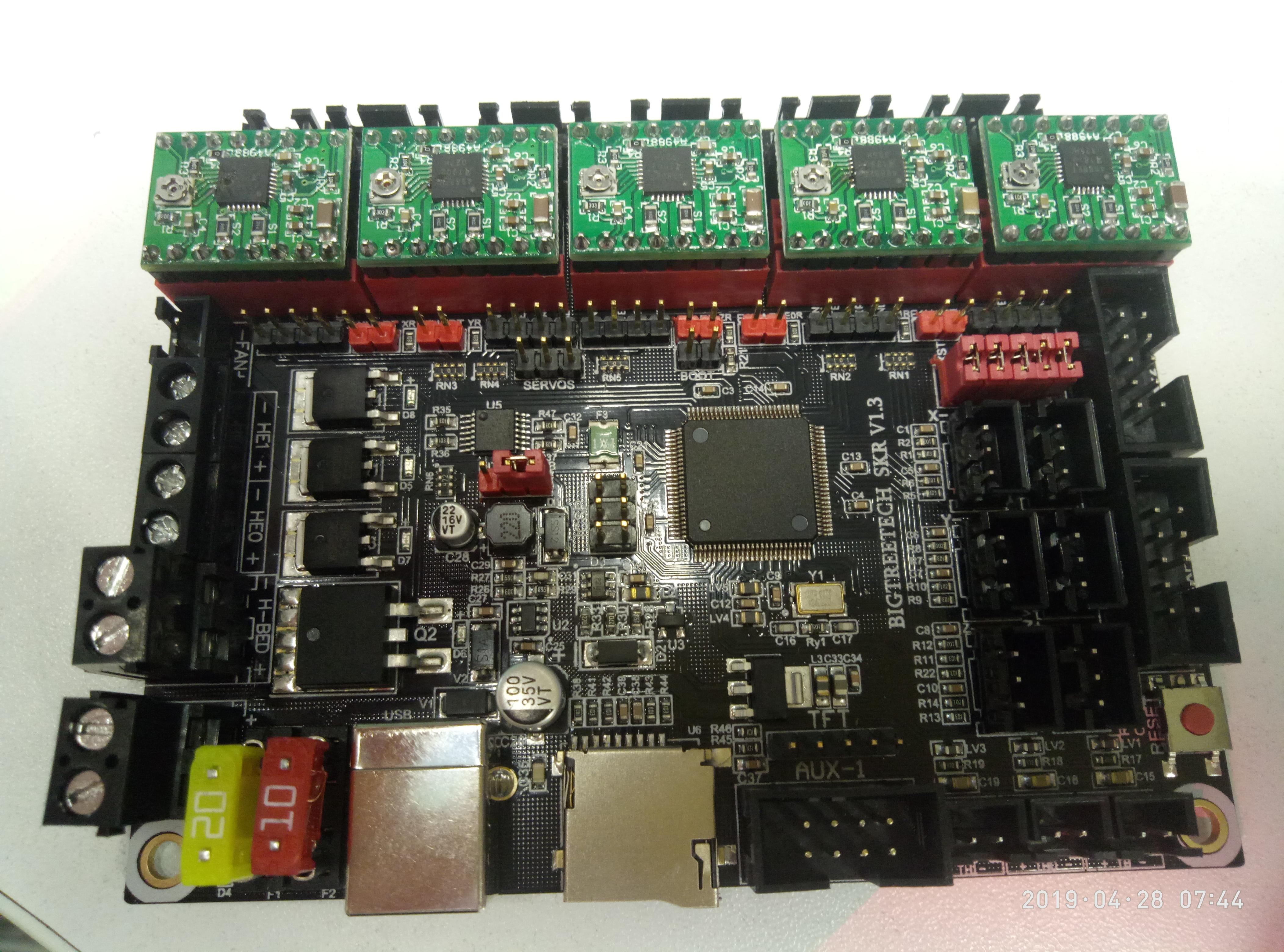 Ender 3  Переход на SKR v1 3 с TMC2130 со стоковым дисплеем