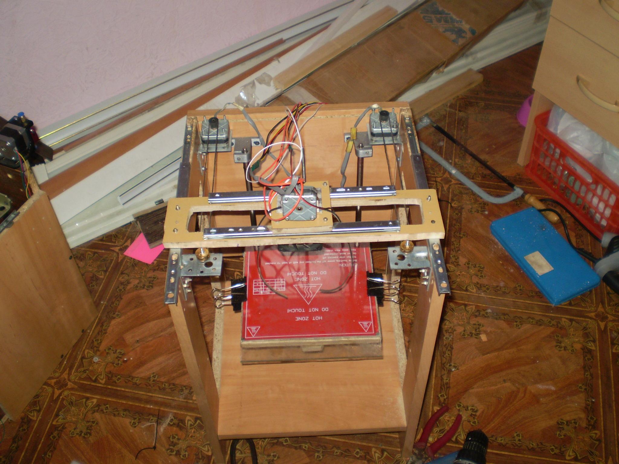 H-bot 3d принтер каркас делаем своими руками 53