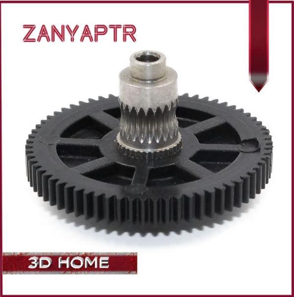 Titan Extruder Gear 66 Tooth Modulus 0.5 Stainless Steel Gear For 3D printer