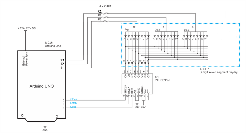 How to Control a 4-digit 7-segment LED Display with an