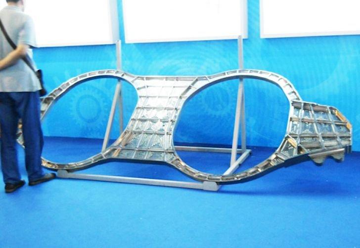 3D-печатная деталь, используемая в прототипах китайских истребителей пятого поколения