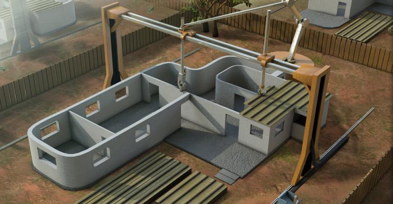 3D-печать зданий поможет с жилищными проблемами