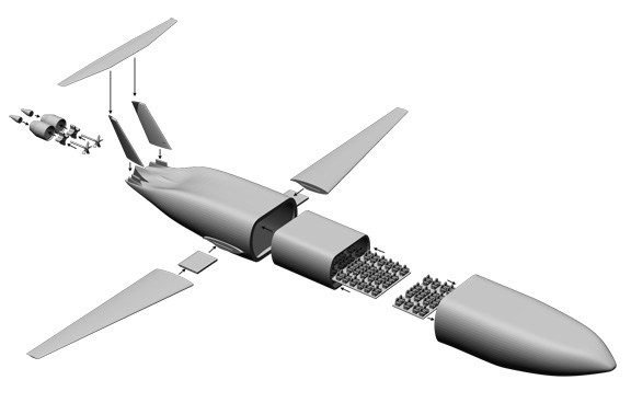 Схема сборки самолета