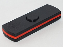 Spinner black with a red line