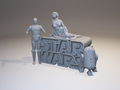 STAR WARS - 3D logo
