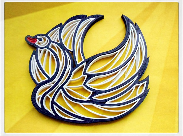 "Quilling ""Swan"""