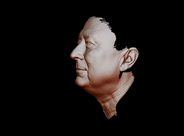 Scanning human face by Thunk3D Fisher handheld 3D scanner