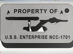 Брелок на ключи STAR TREK - Собственность U.S.S. ЭНТЕРПРАЙЗ