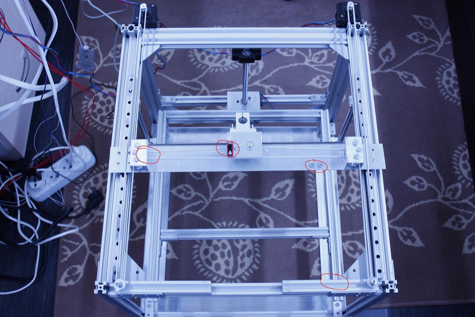 H-bot 3d принтер каркас делаем своими руками 87